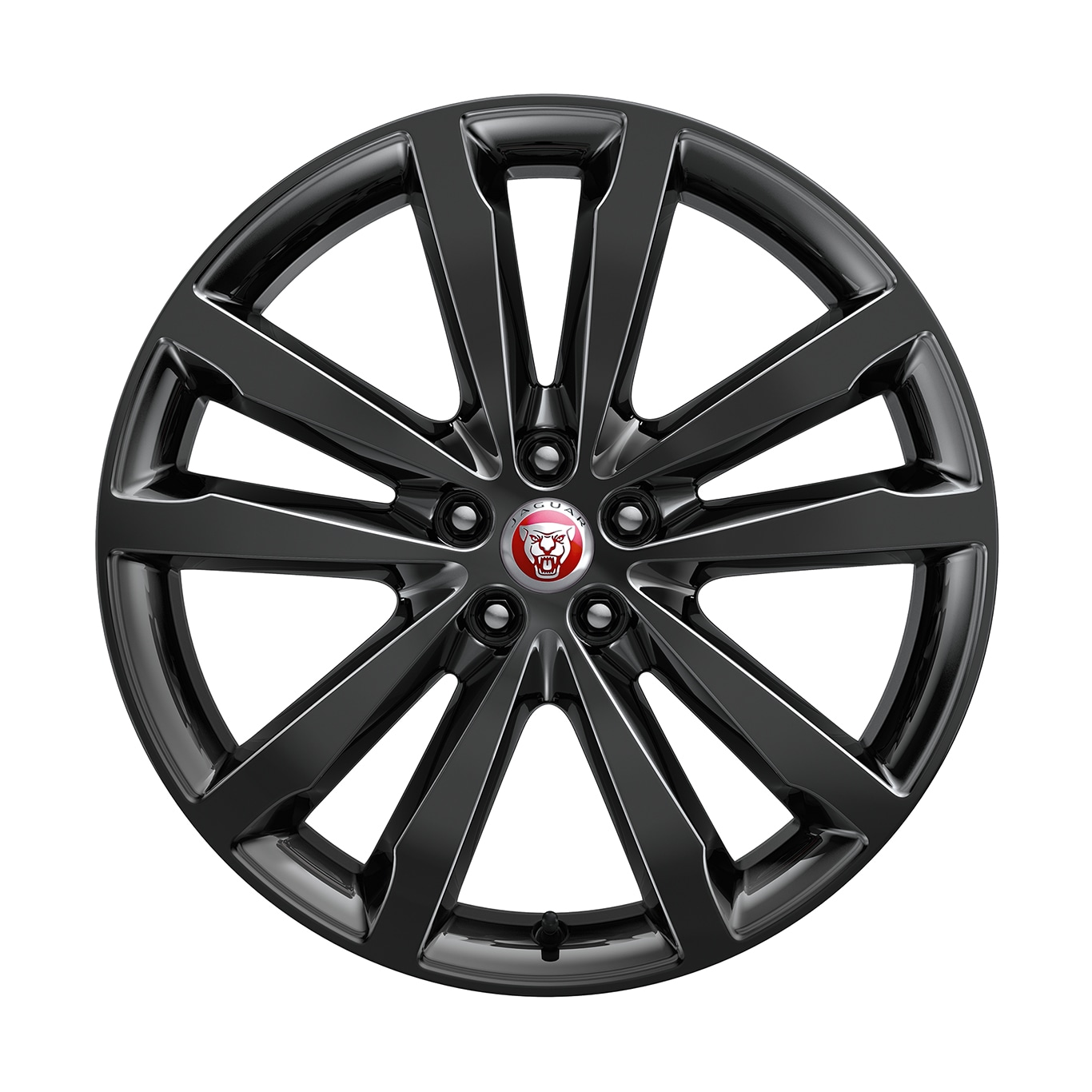 "Alloy Wheel - 20"" 5 Split-Spoke, 'Style 5051' with Gloss Black finish"