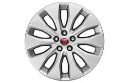 "Alloy Wheel - 18"" Aerodynamic, 10 spoke, with Silver finish"