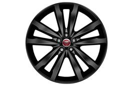 "Alloy Wheel - 20"" Venom, 5 twin-spoke, with Black finish"
