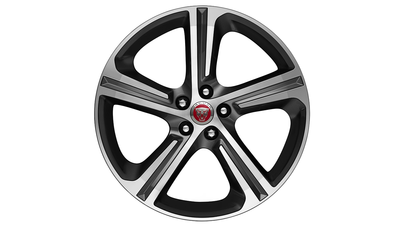 "Alloy Wheel - 20"" Blade, 5 spoke, with Grey Diamond Turned finish"