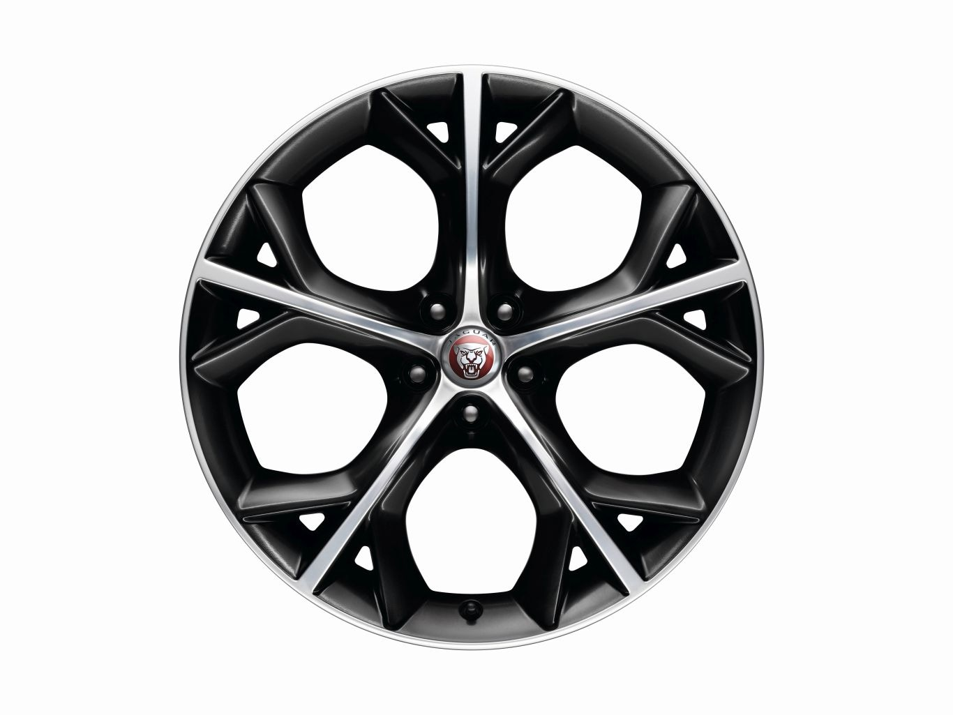 "Alloy Wheel - 20"" Style 5040, 5 split-spoke, Gloss Black Diamond Turned finish, Rear, Pre 21MY"