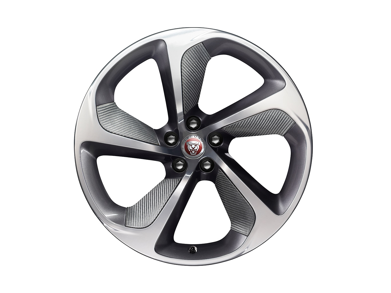 "Alloy Wheel - 20"" Style 5062, Forged, 5 spoke, Carbon Fibre Silver Weave, Front"