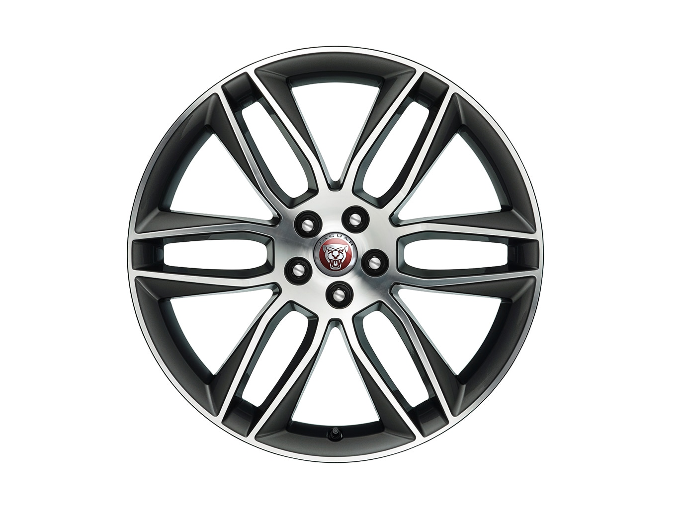 "Alloy Wheel - 20"" Style 6003, 6 split-spoke, Dark Grey Diamond Turned finish, Rear"