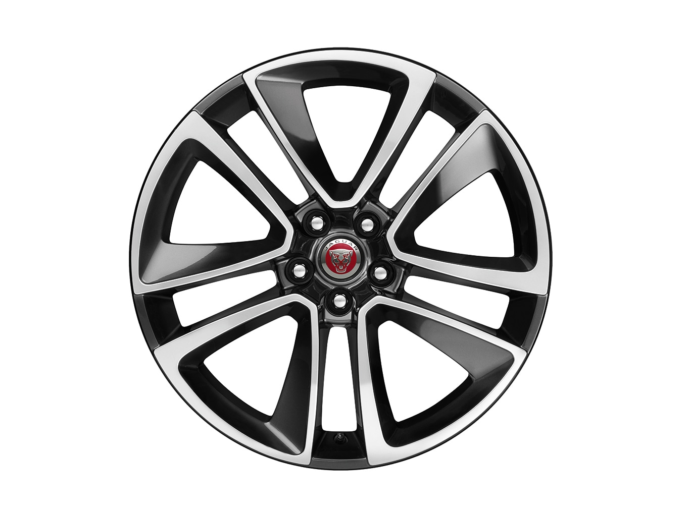 "Alloy Wheel - 19"" Style 5058, 5 split-spoke, Technical Grey Diamond Turned finish, Rear"