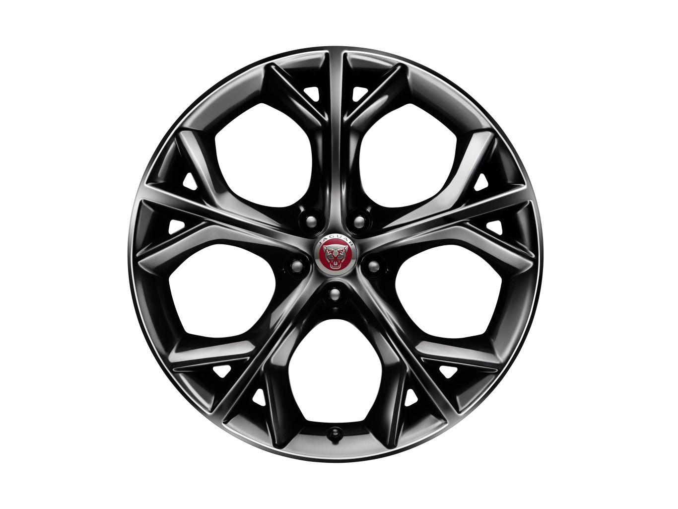 "Alloy Wheel - 20"" Style 5040, 5 split-spoke, Metallic Black, Front, Pre 21MY"