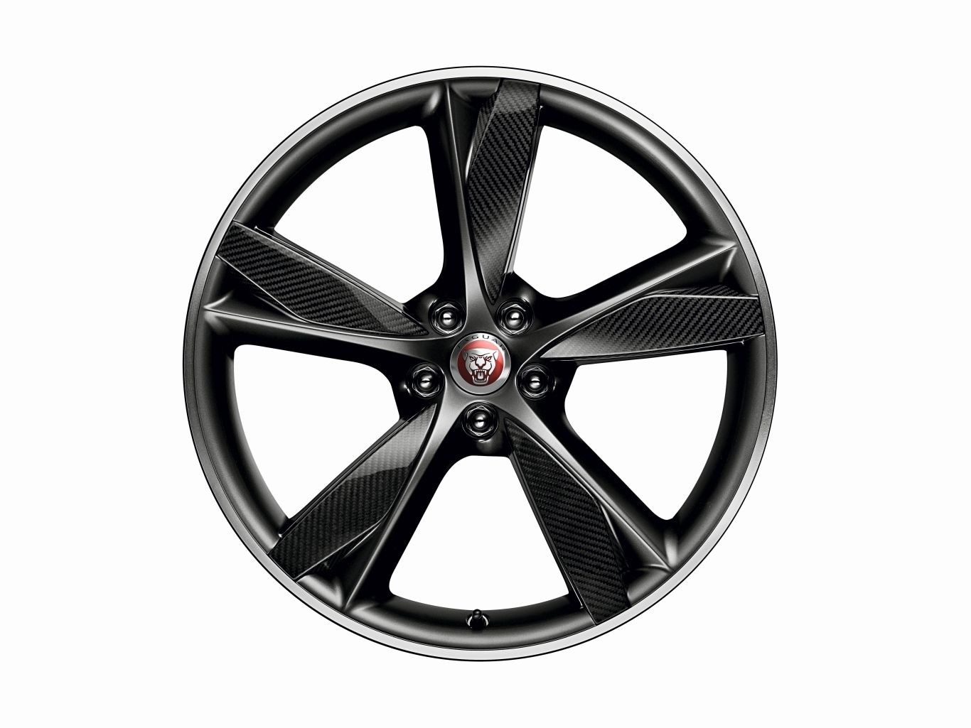 "Alloy Wheel - 20"" Style 5042, 5 spoke, Forged, Carbon Fibre and Satin Dark Grey Diamond Turned finish, Front"