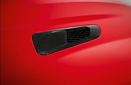 Bonnet Louvre - Silver Weave Carbon Fibre, Right Side, AWD