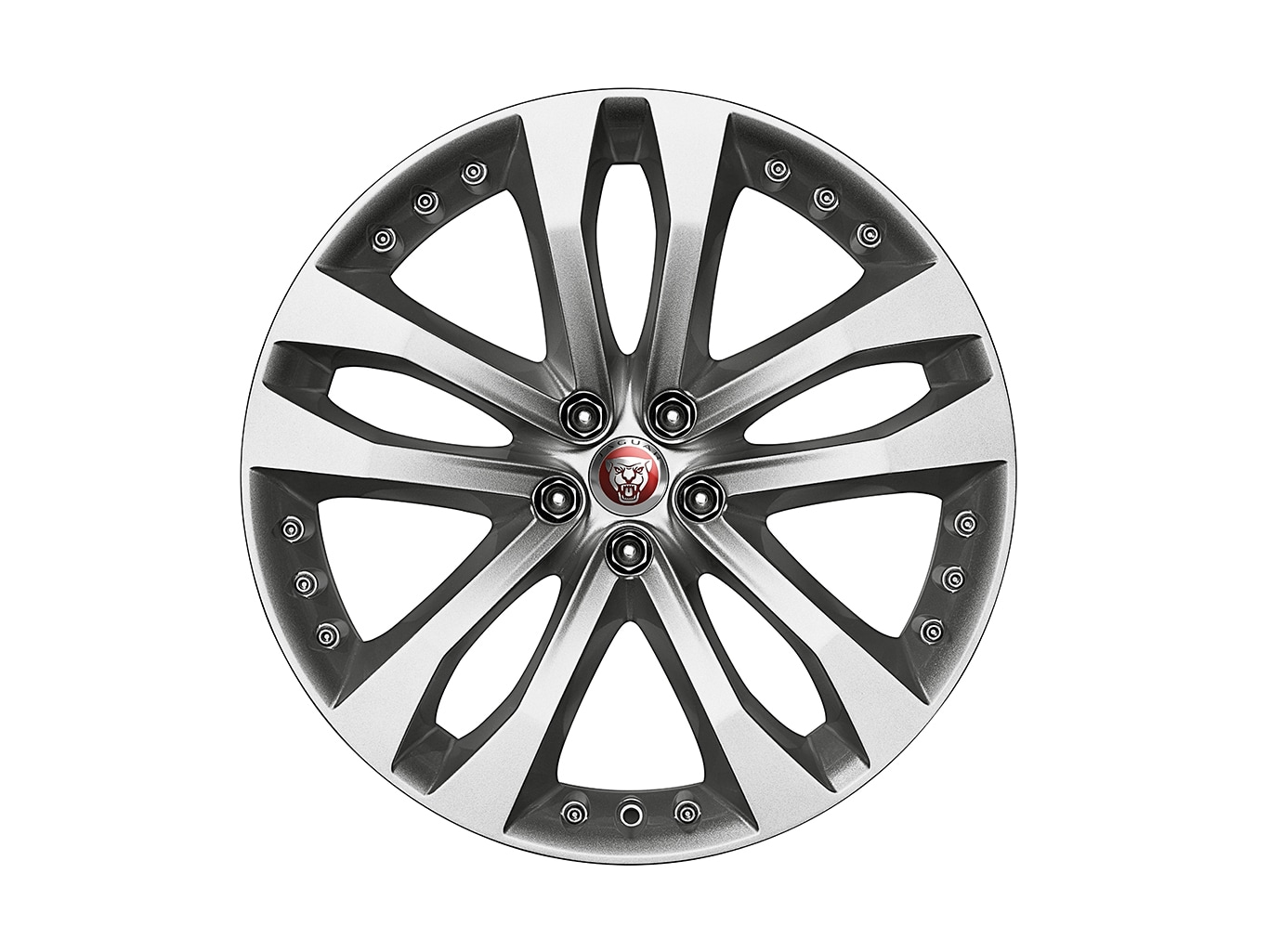 "Alloy Wheel - 20"" Style 5039, 5 split-spoke, Front"