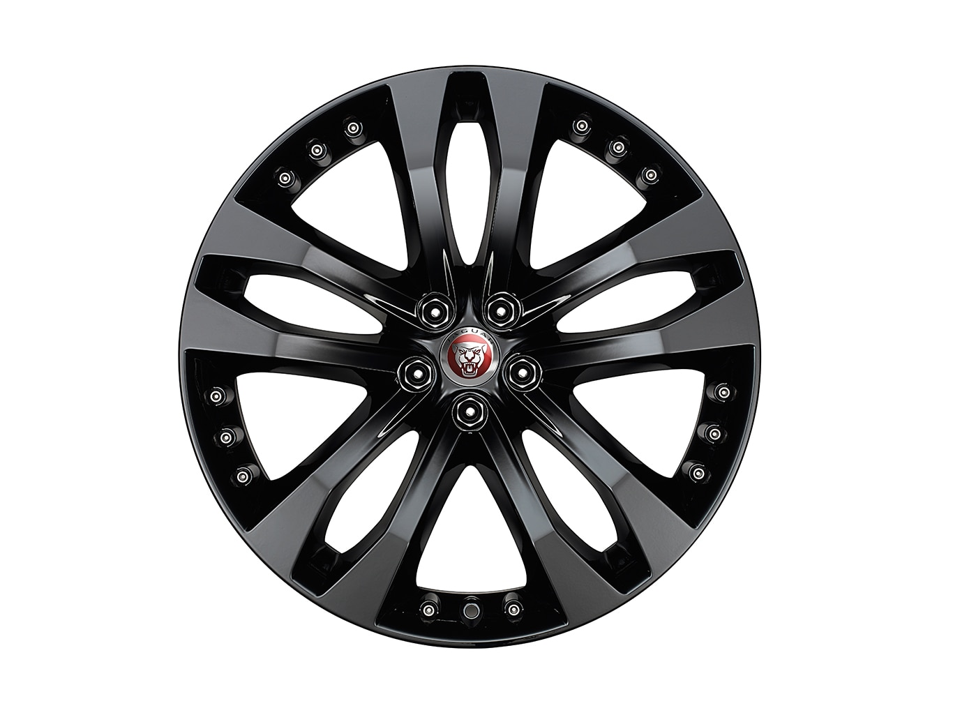 "Alloy Wheel - 20"" Style 5039, 5 split-spoke, Gloss Black, Front"