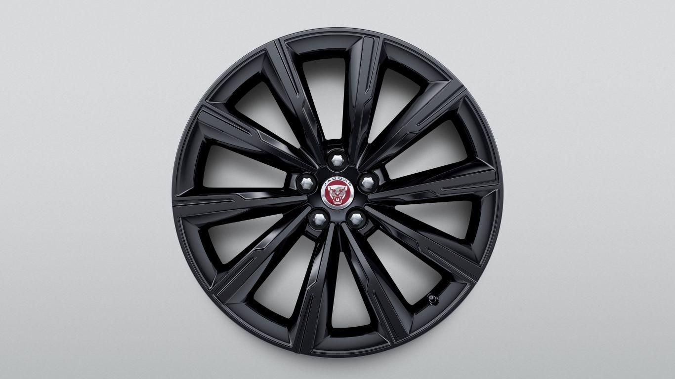 "Alloy Wheel - 20"" Style 1066, 10 spoke, Gloss Black, Front"