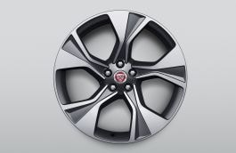 "Alloy Wheel - 20"" Style 5102, 5 spoke, Technical Grey Diamond Turned finish, Rear"