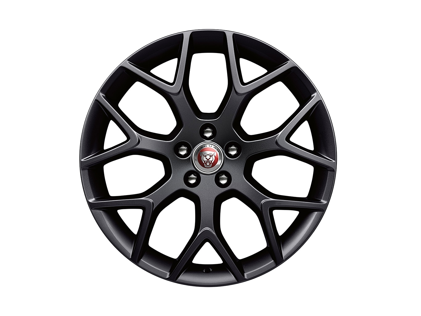 "Alloy Wheel - 19"" Style 7013, 7 split-spoke, Black, Rear"