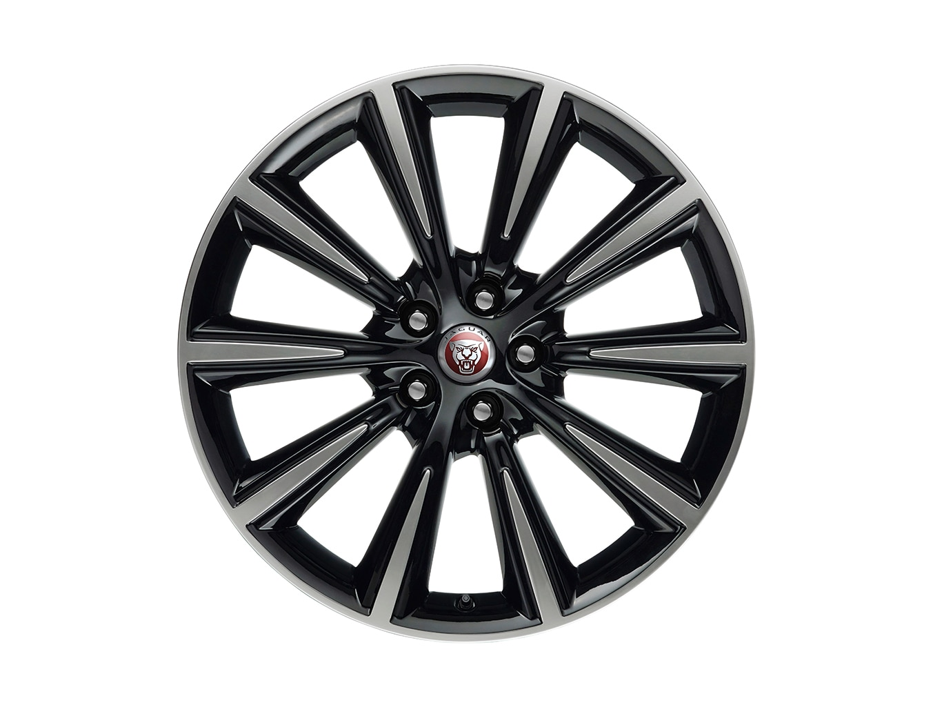 "Alloy Wheel - 19"" Style 1026, 10 spoke, Gloss Black Diamond Turned finish, Rear"