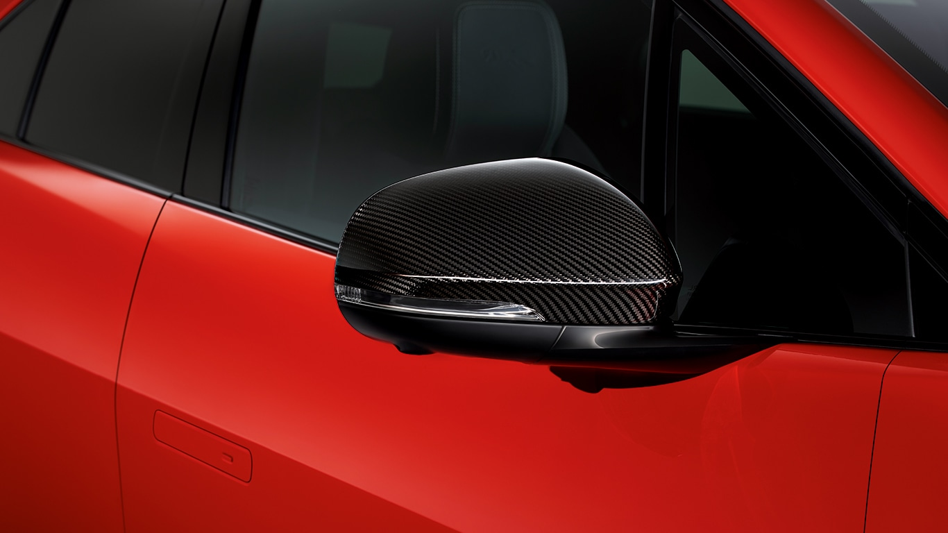 Carbon Fibre Mirror Cover, Right Side