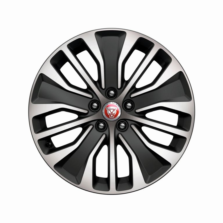 "Alloy Wheel - 19"" Style 5055, 5 split-spoke, Dark Grey Diamond Turned finish"