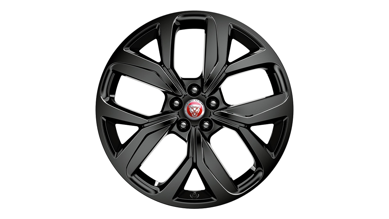"Alloy Wheel - 20"" Style 5068, 5 spoke, Gloss Black"