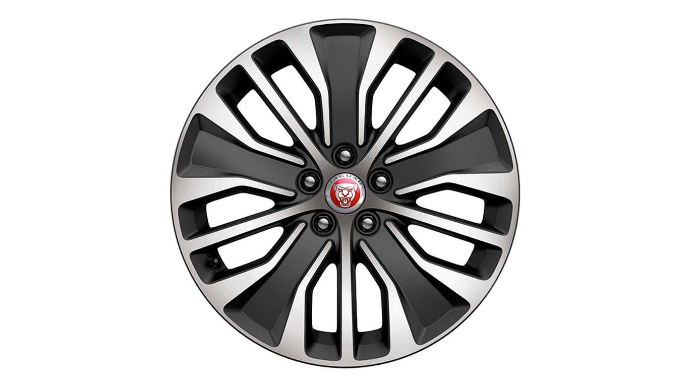 "Alloy Wheel - 18"" Style 5055, 5 split-spoke, Dark Grey Diamond Turned finish"