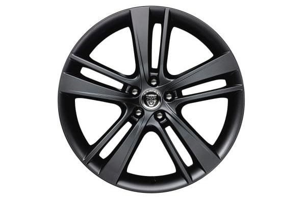 "Alloy Wheel - 20"" Style 5041, 5 split-spoke, Gloss Black, Front"