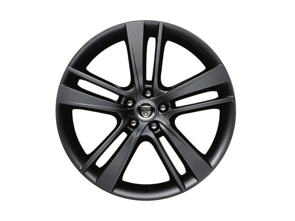 "Alloy Wheel - 20"" Style 5041, 5 split-spoke, Gloss Black, Rear"