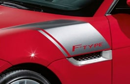 F-TYPE Bonnet Decals - Silver