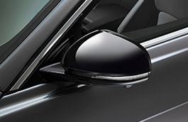 Mirror Cover - Gloss Black, Right Side