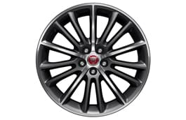 "Alloy Wheel - 19"" Style 1015, 15 spoke, Black Diamond Turned finish, Front"
