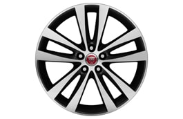 "Alloy Wheel - 19"" Style 5031, 5 split-spoke, Anthracite with Silver Diamond Turned finish, Rear"